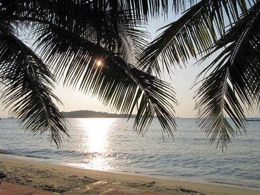 Foto von der Strandliege aus.