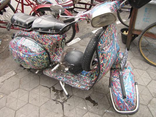 Jogja ist Kunst, auch auf zwei Rädern.