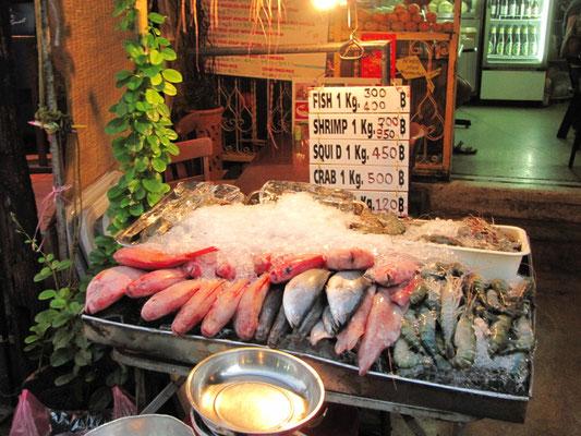 Frischer Fisch & Meeresfrüchte für den Grill.