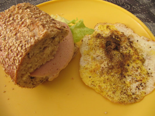 Sandwich mit Ei.