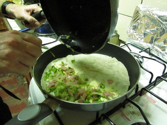 Tortillas selbst füllen.