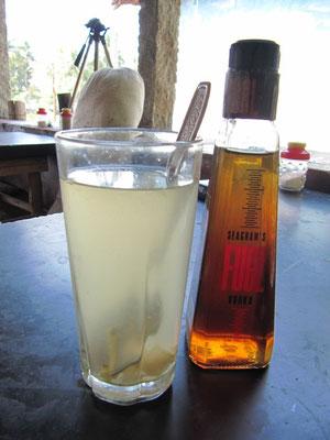 Ingwer-Honig-Zitrone. Super!