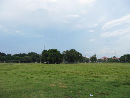 Der Padang, der Riesenversammlungsplatz im Zentrum.
