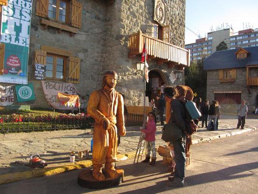 Mapuche-Schnitzerei.