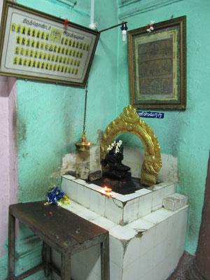 Im Inneren des Sri Poyyatha Vinayagar Moorthi Tempels.