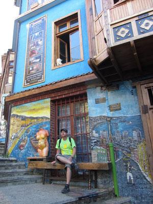 Der Cerro Bellavista wurde ein Freilftmuseum durch ca. 20 Wandmalereien namhafter chilenischer Künstler.