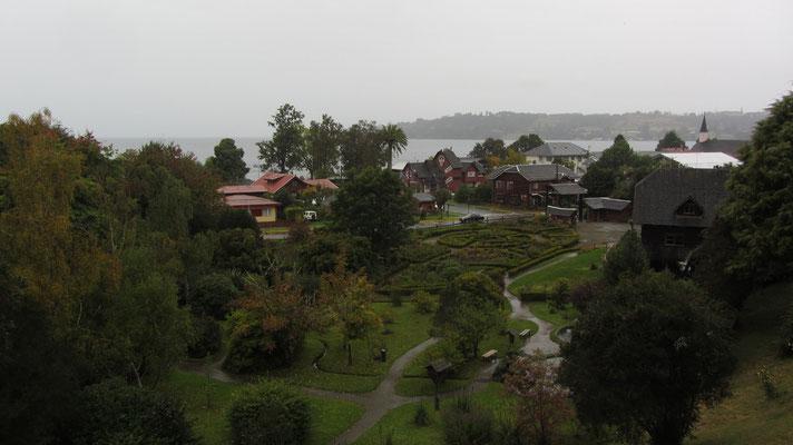 Blick vom Balkon auf den Lago Llanquihue.