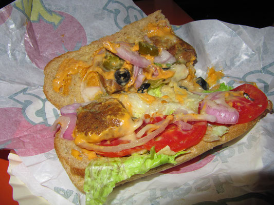Vegetarisches Subway-Sandwich.