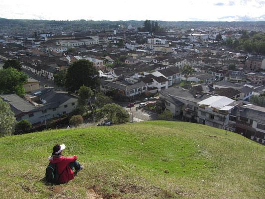 Blick auf Popayan vom El Morro.