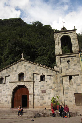 Die Kirche von Aguas Calientes.