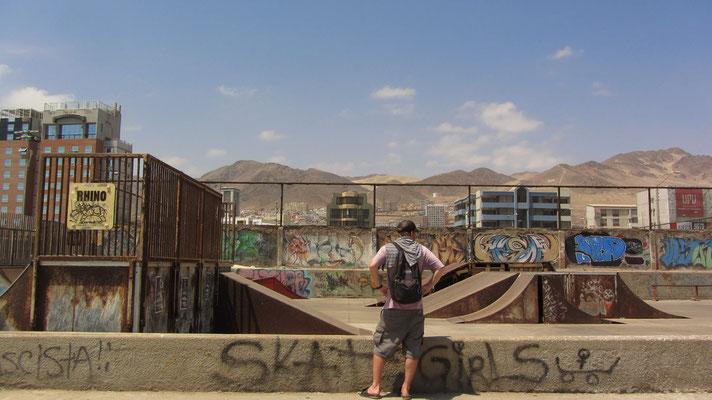 Ein verlassener Skatepark.