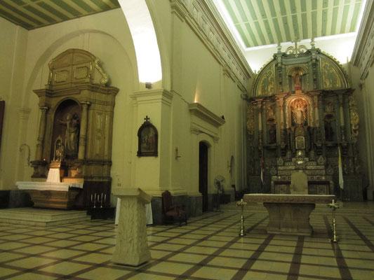 Der sehenswerte Altar ist Zeuge sowohl der Franziskaner als auch der Jesuiten, die das Land zu verschiedenen Zeiten christianisierten.