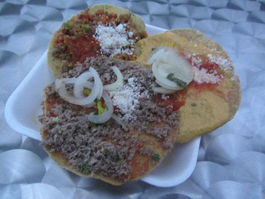 Tacos con carne.