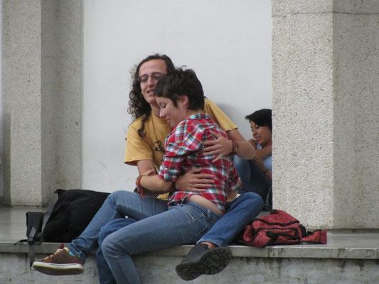 Verliebte Studenten.