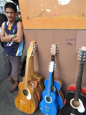 Cebu ist bekannt für seine Gitarren. Ob diese auch dazu gehören?