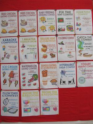 Esswettbewerbsausschreibungen im Supermarkt.