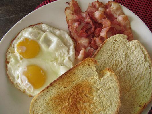 Saftiges Frühstück.
