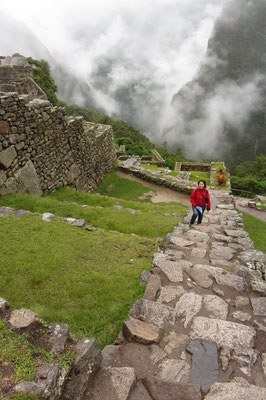 Machu Picchu besuchen heißt auch bergsteigen.