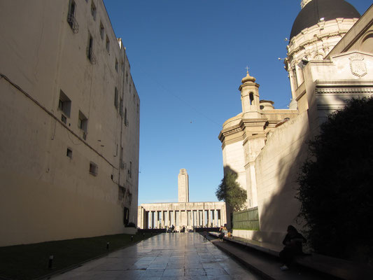 Blick auf das Wahrzeichen Rosarios: Das Monumento Nacional a la Bandera.