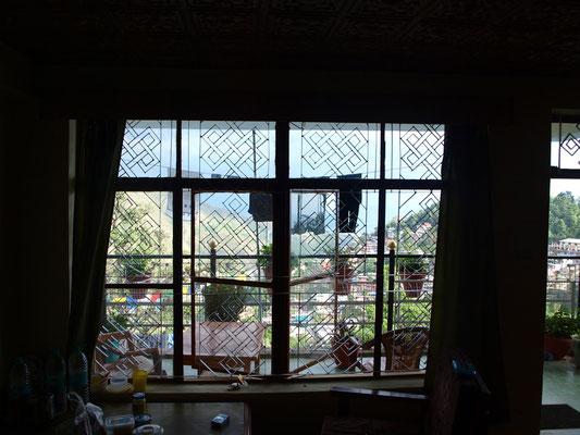 Blick durch unser Fenster.