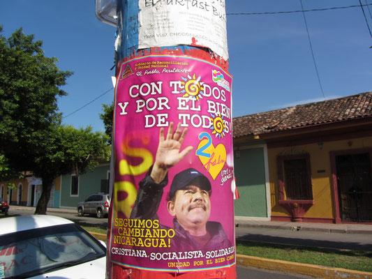 Wahlwerbung für el Presidente Daniel Ortega.