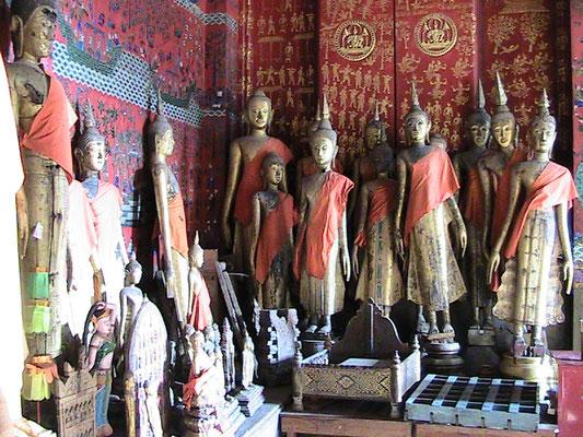 Buddhastatuen (Wat Xieng Thong).