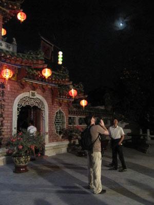Im Innenhof des Fujian Tempels.