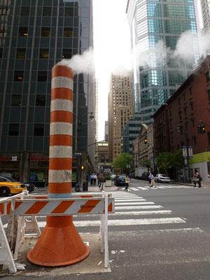 Der Dampf der Straße.