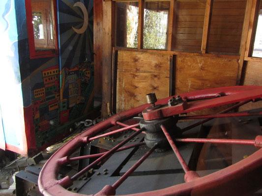 So funktioniert der Aufzug seit über einem Jahrhundert. Hier der Zugmechanismus von Artilleria.