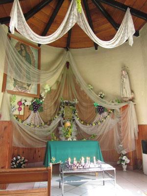 In der kleinen Seitenkapelle der Kirche San Marcos.