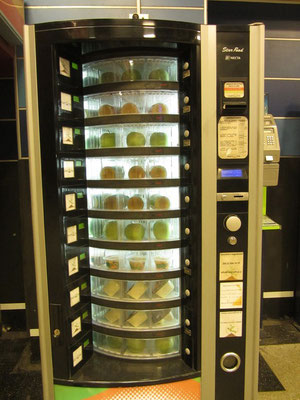Frisches Obst aus dem Automaten.