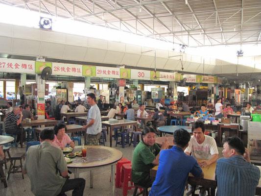 Belebter Food-Court.
