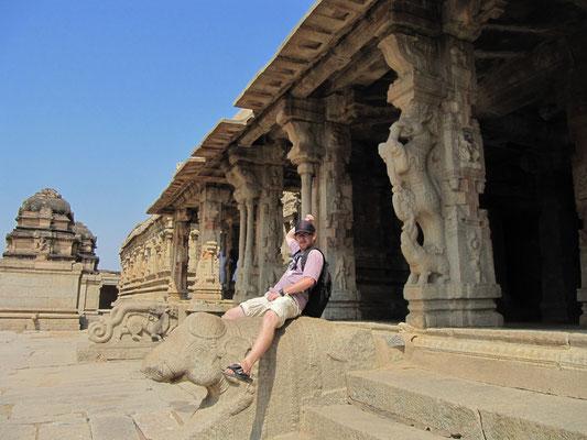 Bullenritt. (Krishna-Tempel)