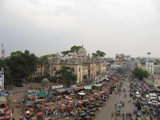 Blick auf das alte Krankenhaus vom Charminar.