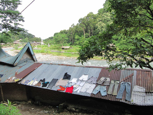 Wäschetrockner à la Bukit Lawang.