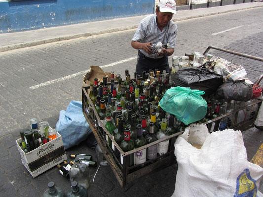 Flaschensammler.