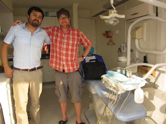 Unser Gastgeber war Kieferchirurg.