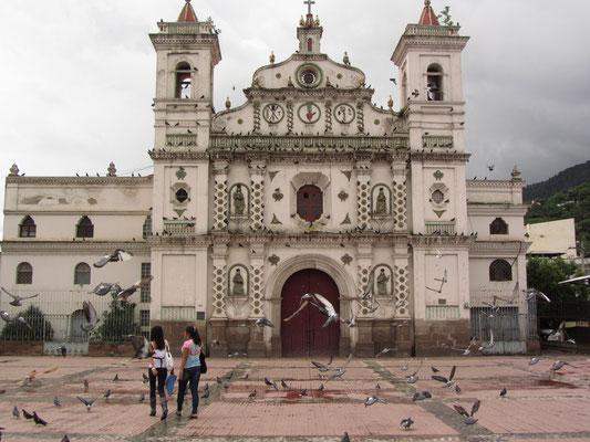 Der Parque Valle mit der Iglesia de San Francisco und sehr vielen Tauben.