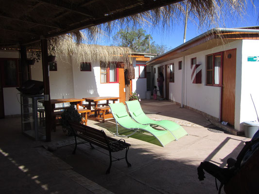 Unser Gästehaus war für chilenische Verhältnisse günstig, für uns die bis dato teuerste Unterkunft (25 €) unserer gesamten Reise.