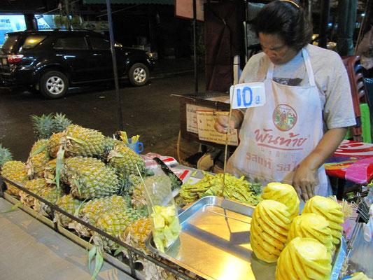Frische Ananas.