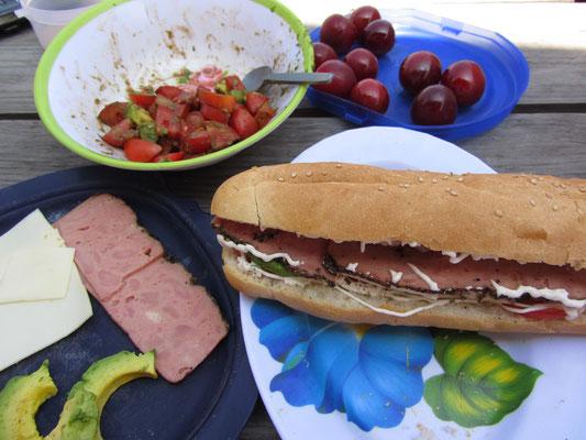 Selbstbelegtes Sandwich.