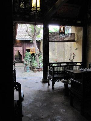 Innenhof eines ehemaligen chinesischen Haendlerhauses.