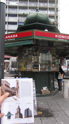 Keine Frage, bei diesem Kiosk handelt es sich eindeutig um den berühmten, hundert Jahre alten, aus dem Reiseführer.