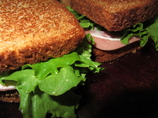Mortadella-Sandwiches.
