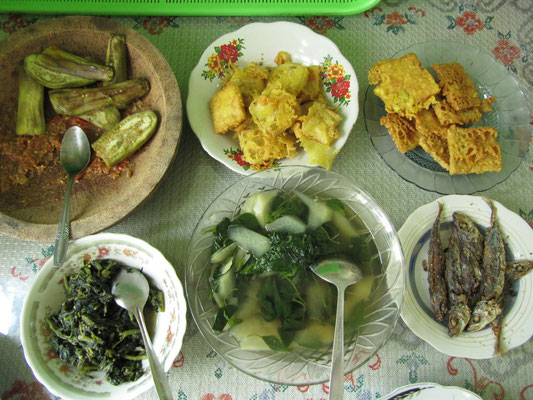 Leckere javanesische Küche.