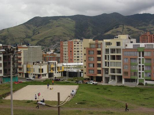 Wohnkomplexe in der Stadt.