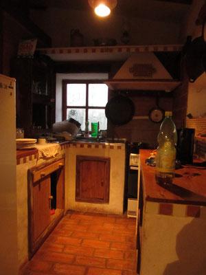 Die Küche im selbstgebauten Haus.