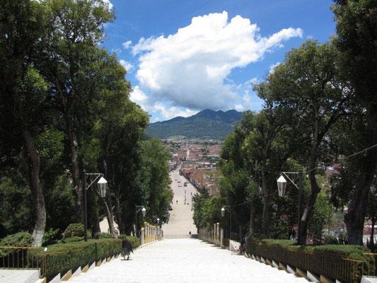Blick auf die schöne Stadt vom Cerro de Guadelupe.