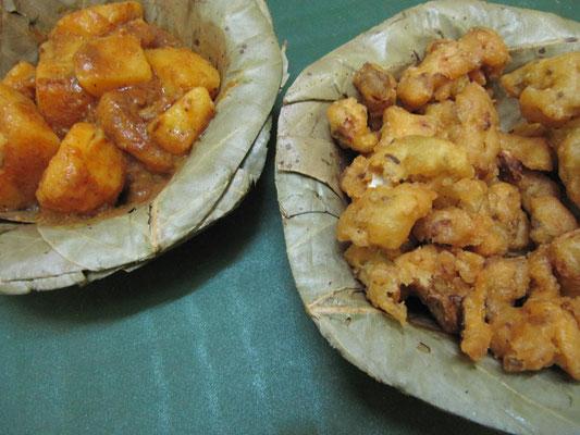 Kartoffelcurry & frittierter Blumenkohl. Ein perfekter Straßensnack.