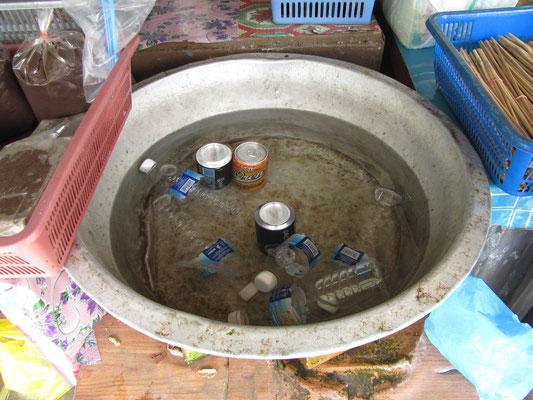 Kühlschrank auf dem Markt.